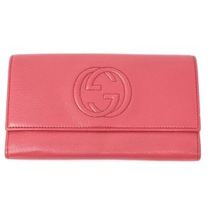 100% Auth Gucci Bifold Leather GG Wallet